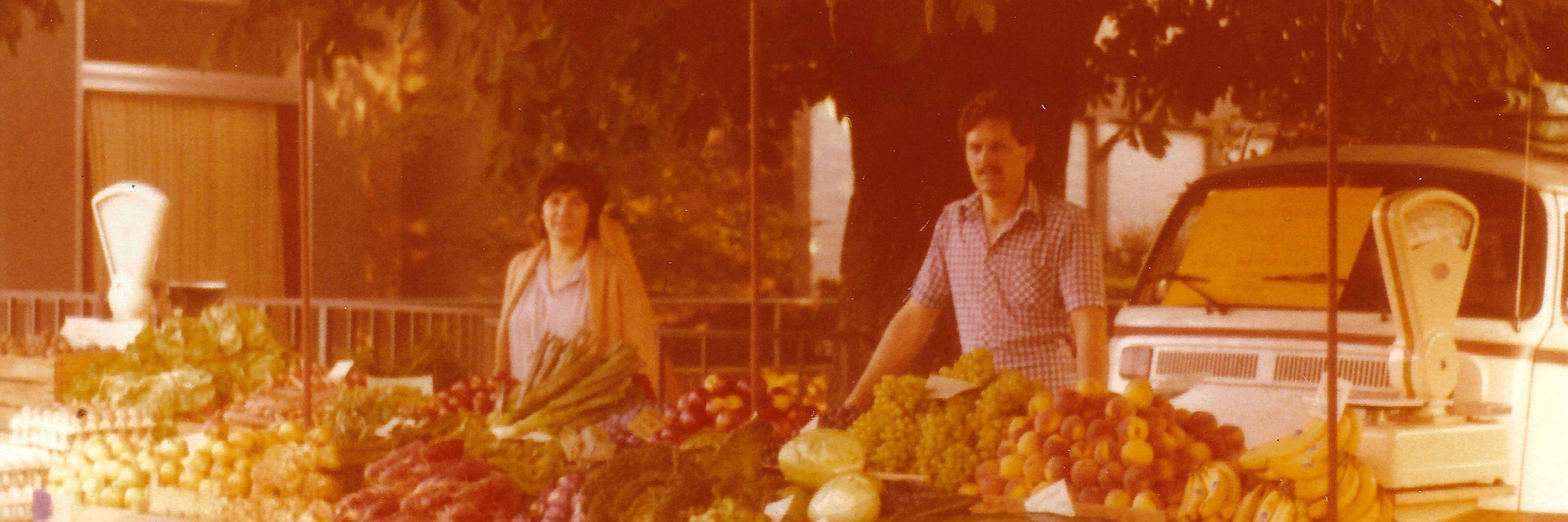 Ökokiste Allgäu Historischer Stand mit Angelika & Josef Kienle